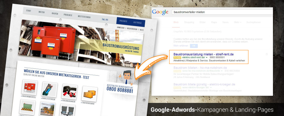 Google-Adwords www.streif-rent.de